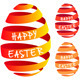 Ribbon Easter Eggs, Vector Set - GraphicRiver Item for Sale
