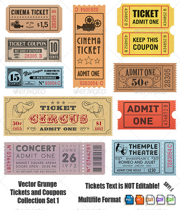 GraphicRiver Vector Coupons and Tickets Collection 1 6979075