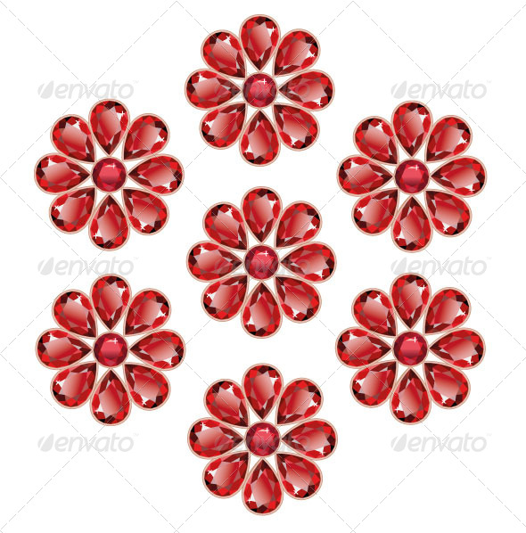 GraphicRiver Red Flowers of Rubies 6981282