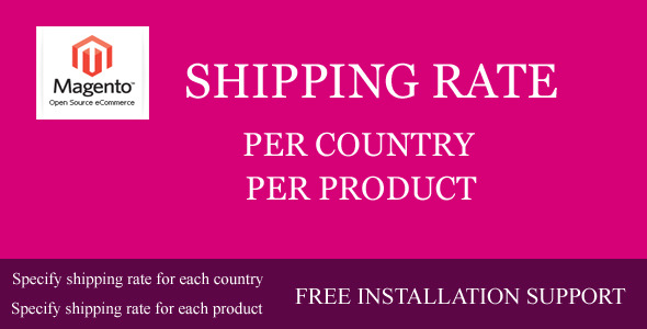 CodeCanyon Shipping Rate per Country Product 6981338