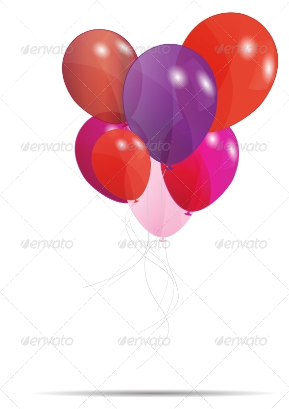 GraphicRiver Gift Card with Balloons 6981637