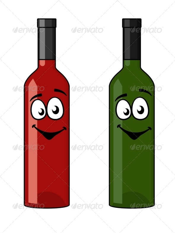GraphicRiver Two Bottles of Wine 6982284