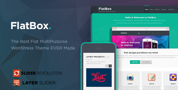 ThemeForest FlatBox Flat Multipurpose WordPress Theme 5600020
