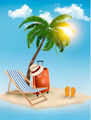 Travel background with tropical island. Summer vacation concept background. - PhotoDune Item for Sale