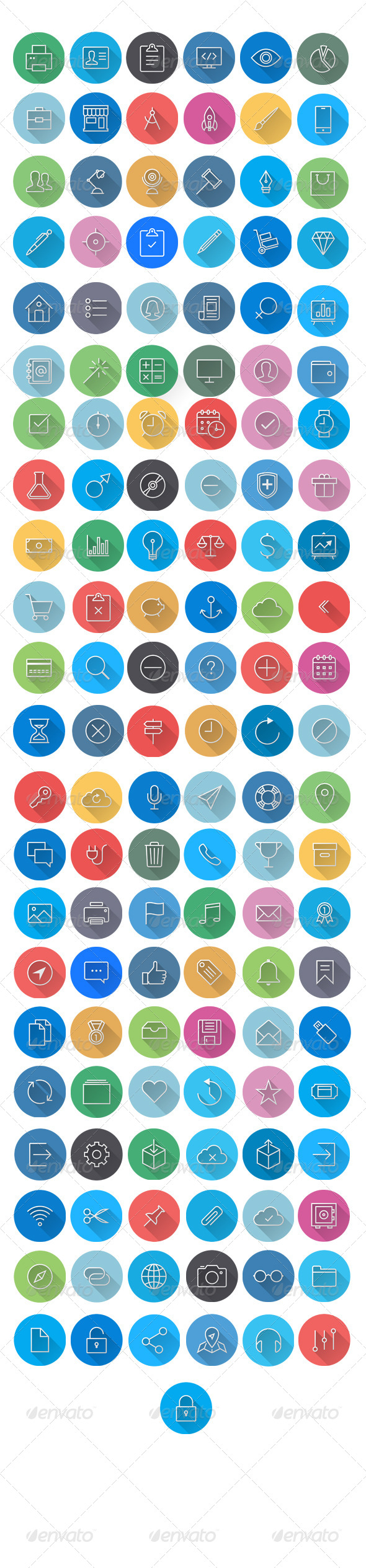 GraphicRiver Flat Icons 6984045