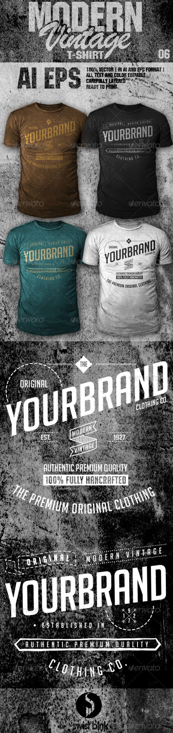GraphicRiver Modern Vintage T-Shirt 06 6984410