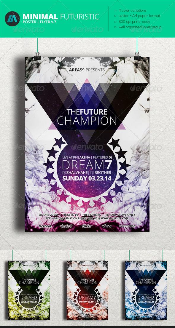 GraphicRiver Minimal Futuristic Poster Flyer V.8 6984622