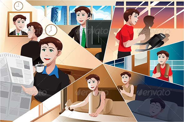 GraphicRiver Day in Life of a Modern Man 6984721