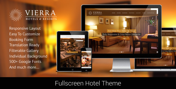 Vierra - Responsive Hotel Wordpress Theme - Travel Retail