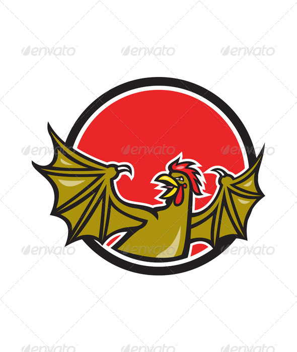 GraphicRiver Basilisk Bat Wing Cartoon 6985411