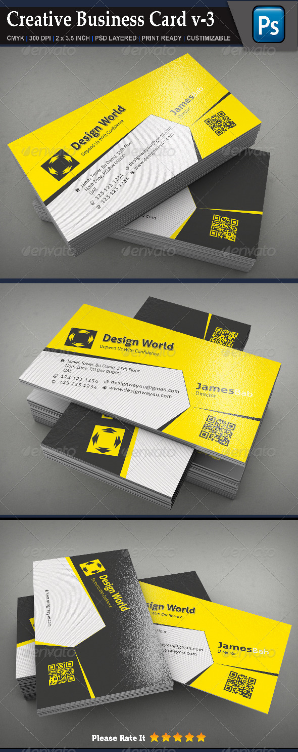 GraphicRiver Creative Business Card v-3 6985463