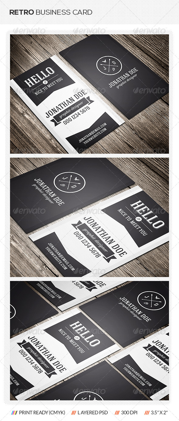 GraphicRiver Retro Business Card 6985487