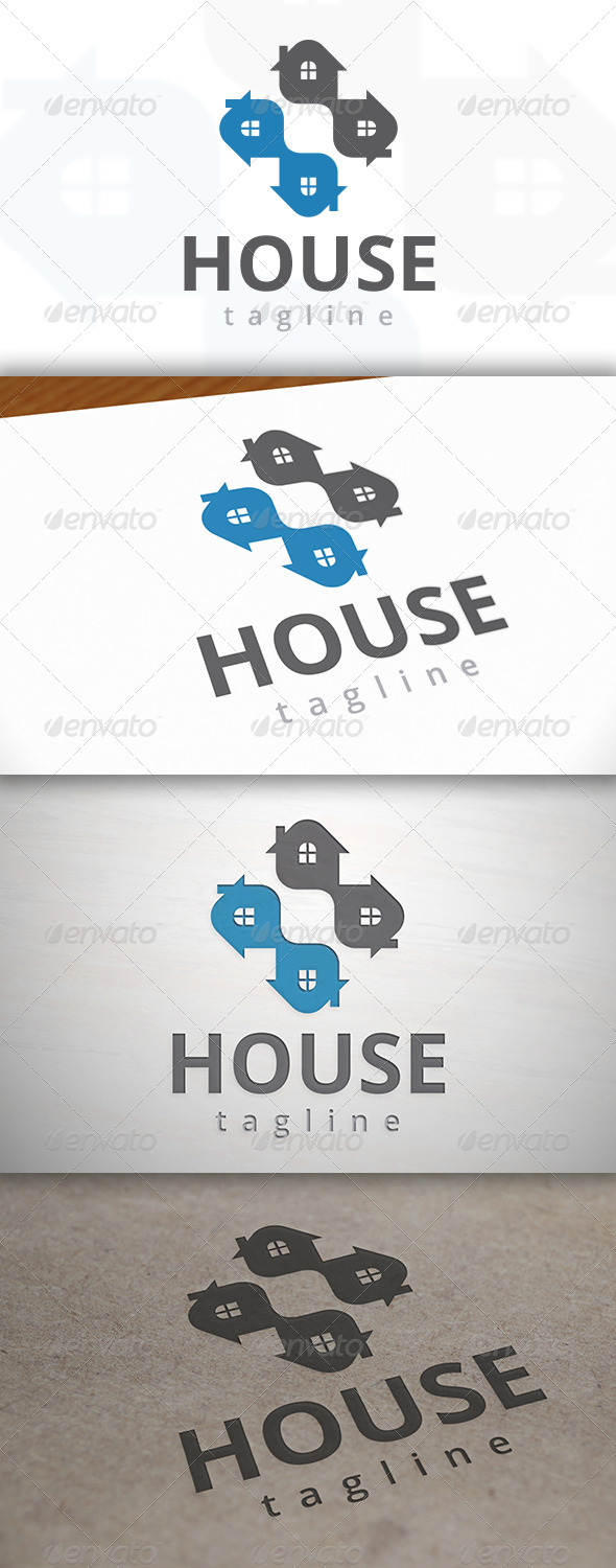 GraphicRiver Cross House Logo 6985921