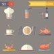 Flat Restaurant Icons  - GraphicRiver Item for Sale