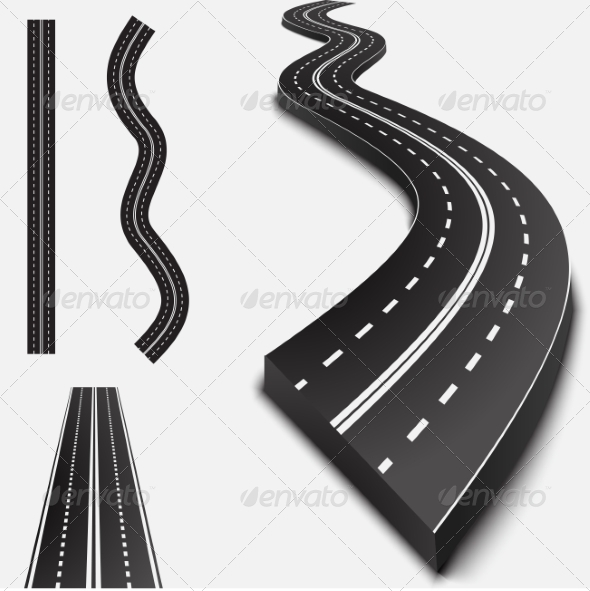 GraphicRiver Abstract Asphalt Road Isolated 6986051