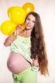 Pregnant woman with balloons - PhotoDune Item for Sale