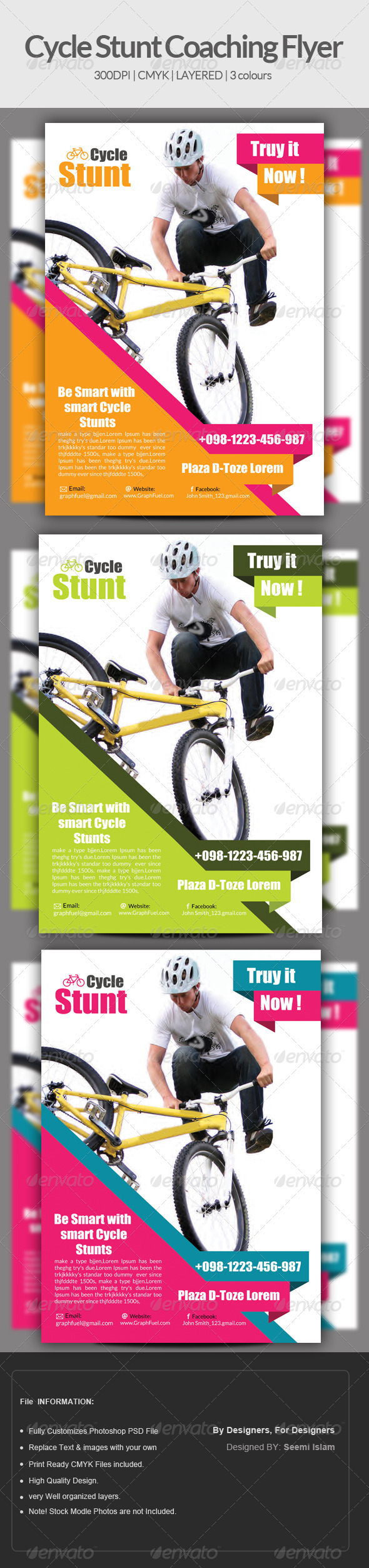 GraphicRiver Cycle Stunt Coaching Flyer Template 6973268