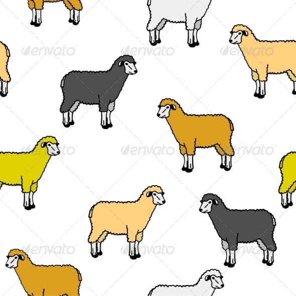 GraphicRiver Sheep Pattern 6987909