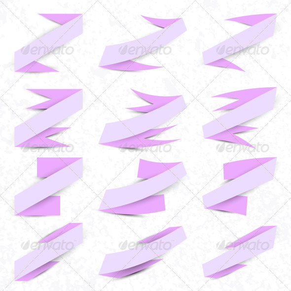 GraphicRiver Collection of Violet Ribbons 6987922