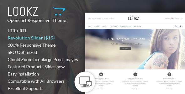 ThemeForest Lookz Opencart Parallax Template 6988027