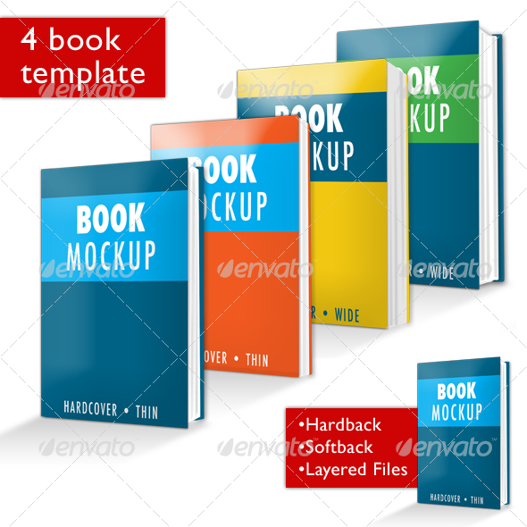Book Mockup PSD - Books Print