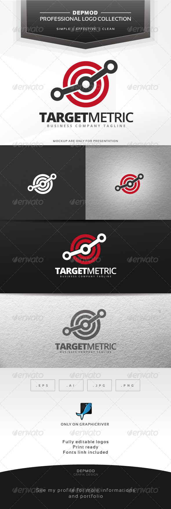GraphicRiver Target Metric Logo 6988534