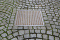 Paving stones with metal manhole - PhotoDune Item for Sale