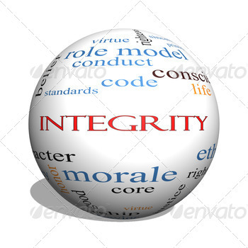Integrity 3D sphere Word Cloud Concept - PhotoDune Item for Sale