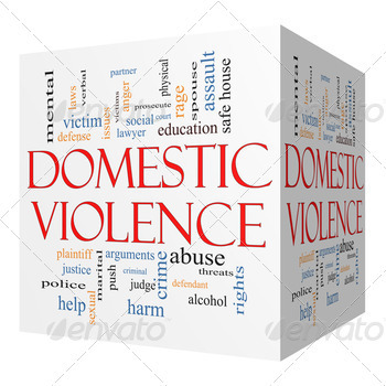 Domestic Violence 3D cube Word Cloud Concept - PhotoDune Item for Sale