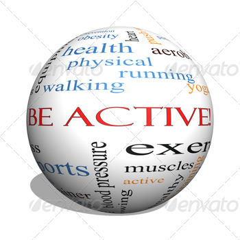 Be Active! 3D sphere Word Cloud Concept - PhotoDune Item for Sale