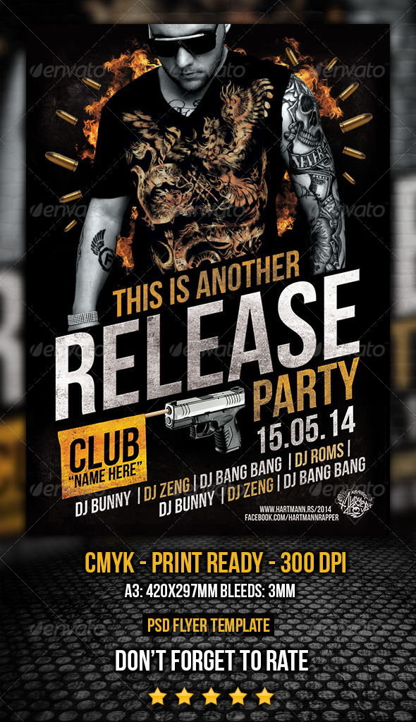 GraphicRiver Release Party Flyer 6965117