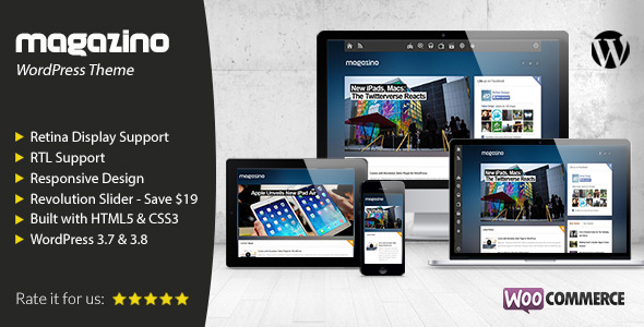 Magazino - Responsive WordPress Theme