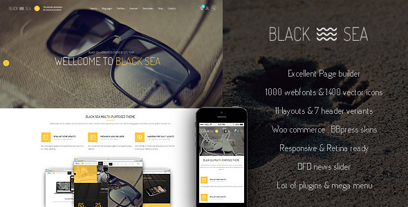 Black Sea - clean & clear multi-purpose theme - Creative WordPress