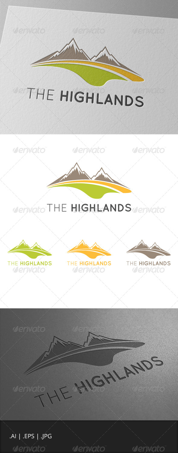 GraphicRiver The Highlands Mountain Logo 6990435