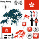 Map of Hong Kong - GraphicRiver Item for Sale