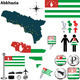 Map of Abkhazia - GraphicRiver Item for Sale