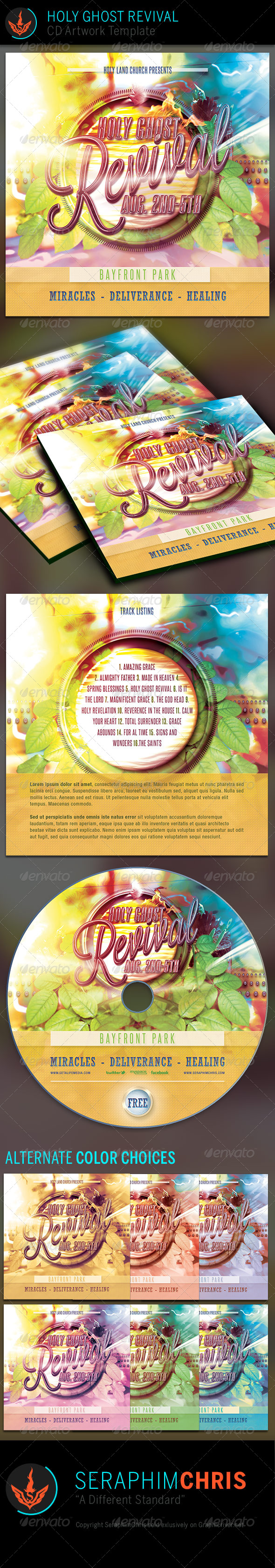 GraphicRiver Holy Ghost Revival CD Artwork Template 6980058