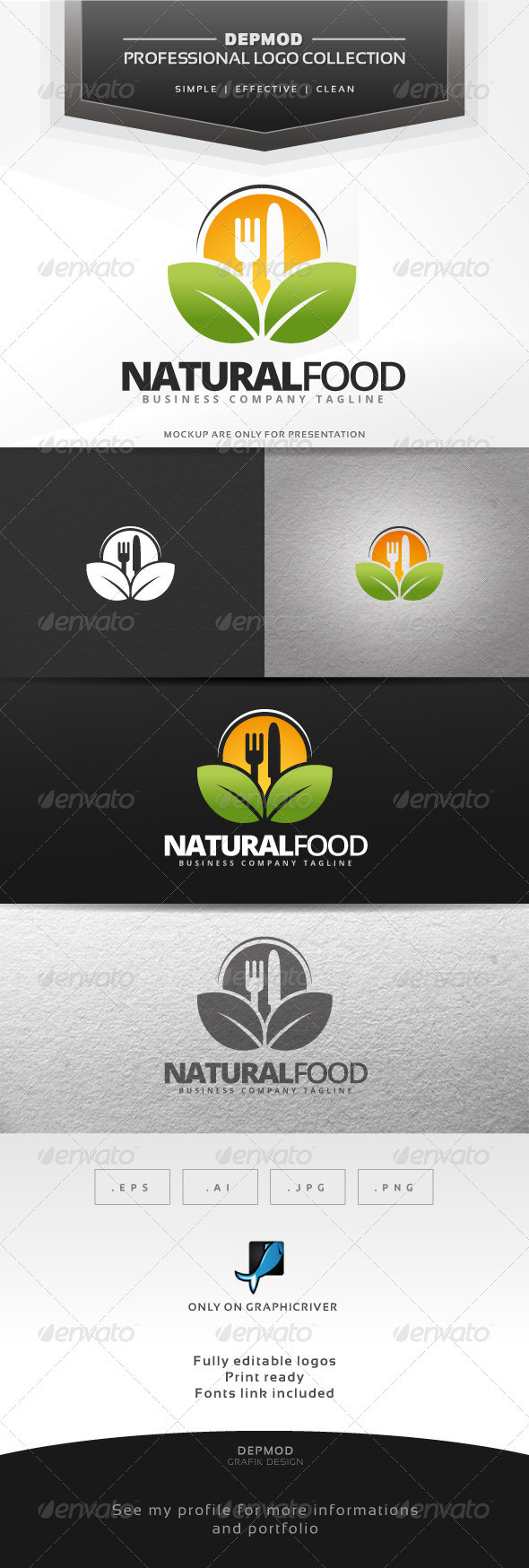 GraphicRiver Natural Food Logo 6992260