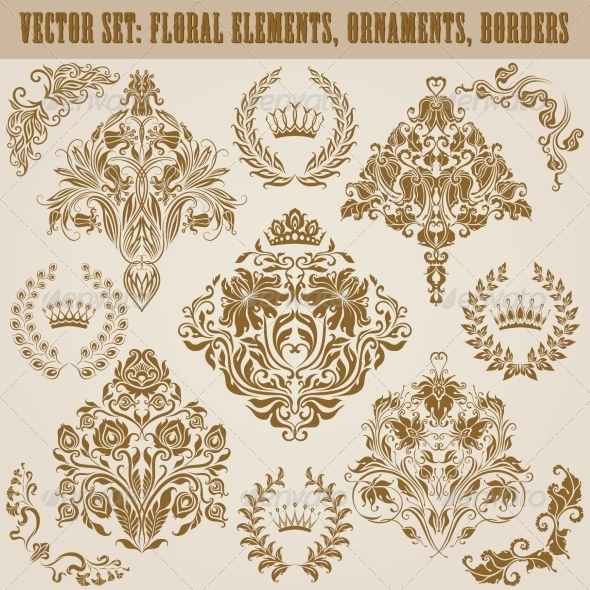 GraphicRiver Set of Damask Ornaments 6992298