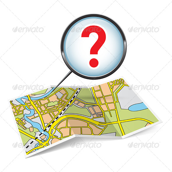 GraphicRiver Map Booklet with Question Mark 6993340