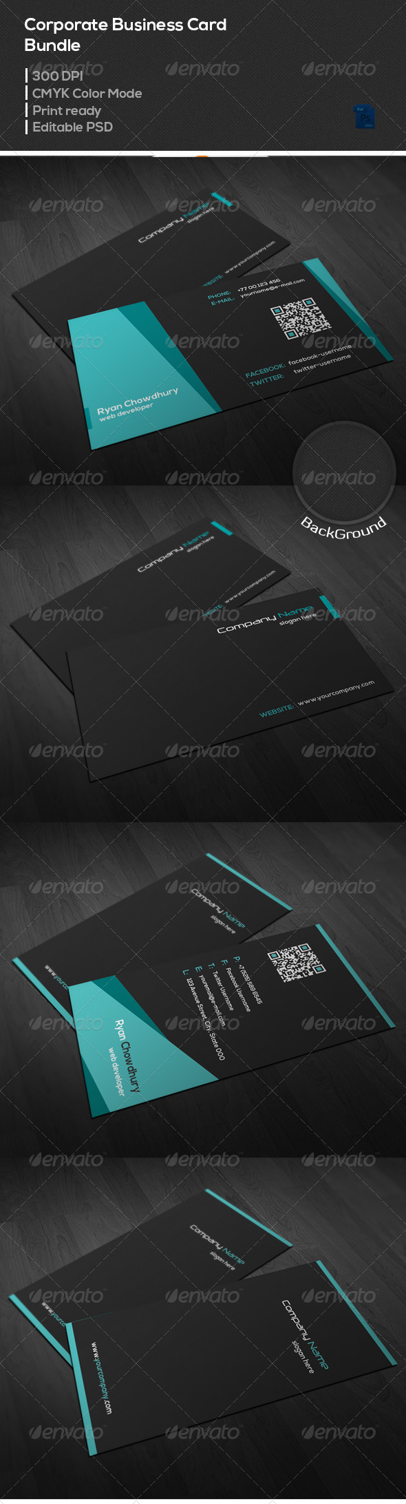 GraphicRiver Corporate Business Card Bundle 6993419