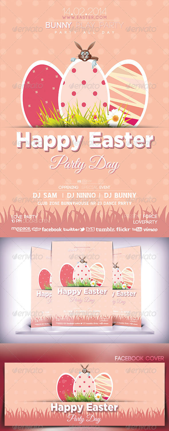 GraphicRiver Easter Day Party Flyer 6993937