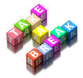 take a break words made of colorful toy blocks - PhotoDune Item for Sale