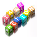 take action words made of colorful toy blocks - PhotoDune Item for Sale