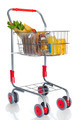 Shopping cart full with food products - PhotoDune Item for Sale