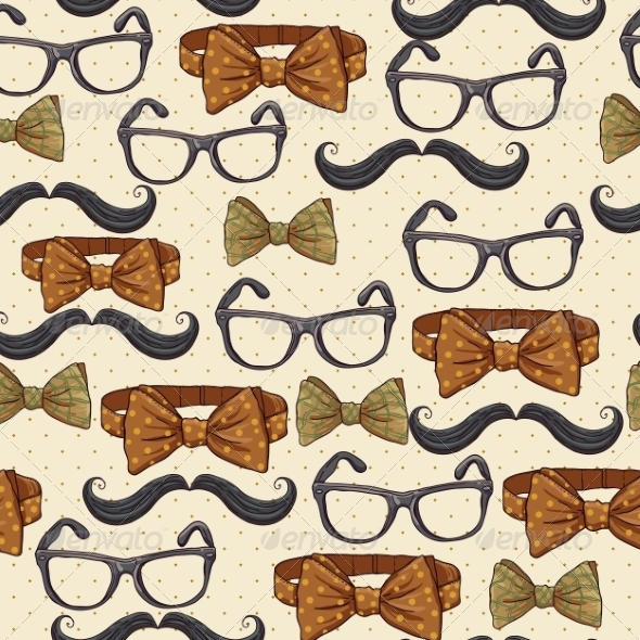 GraphicRiver Seamless Vintage Hipster Background 6996024