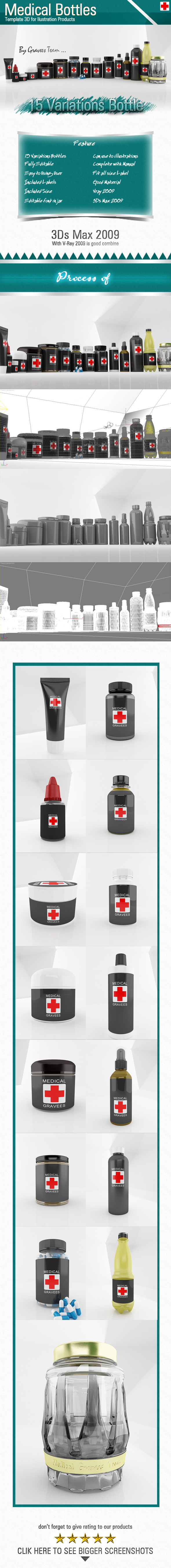 3DOcean Medical Bottles 6996026