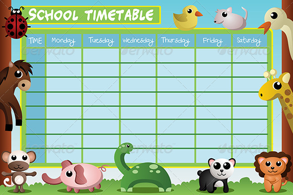 GraphicRiver School Timetable Design 6996411