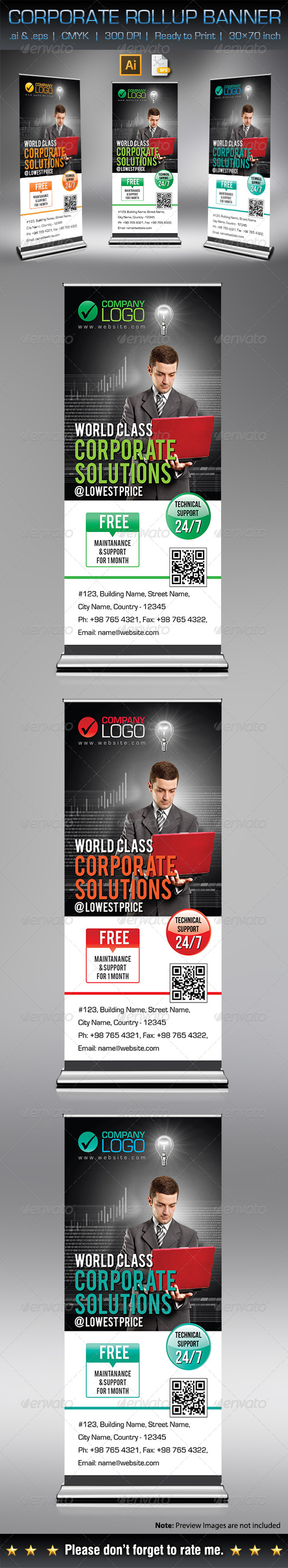 GraphicRiver Corporate Rollup Banner 6996423