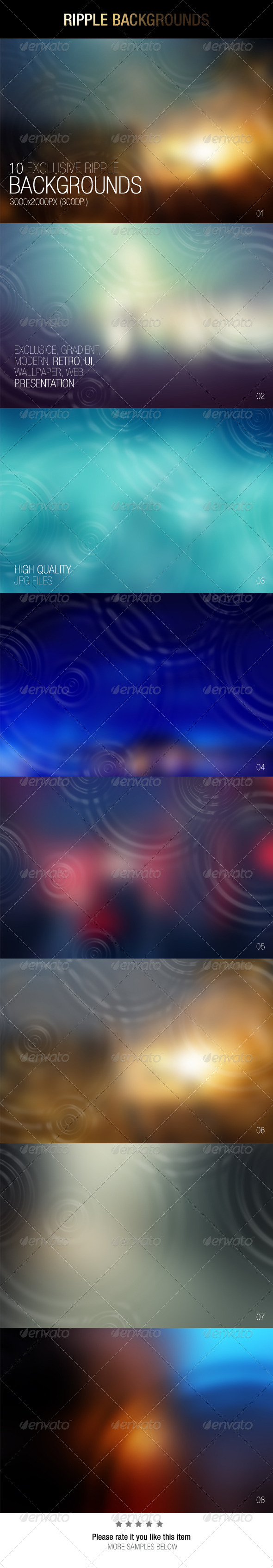 GraphicRiver Ripple Backgrounds 6996723